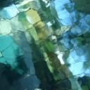 blue green glass eye MGD©