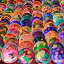 10438111-clay-ceramic-colorful-plates-from-Mexico-traditional-handcrafts-Stock-Photo